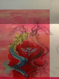 """preparatory sketch for the rug """"Stand"""" artist: Brigita Krasauskaite"""