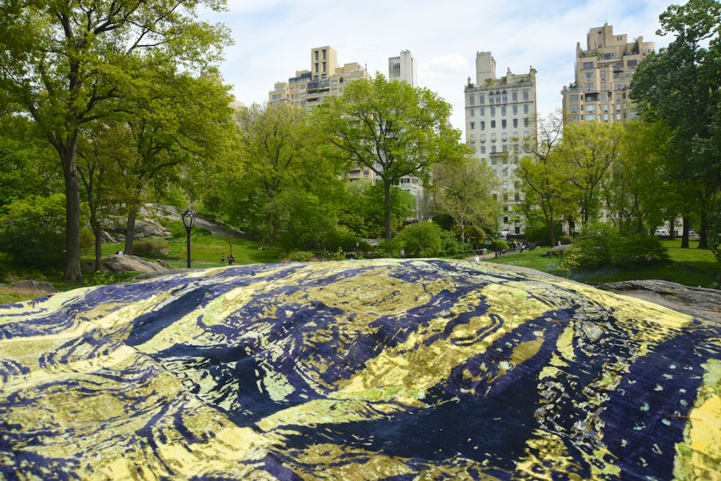 """The rug """"Stand"""" in Central Park, New York."""